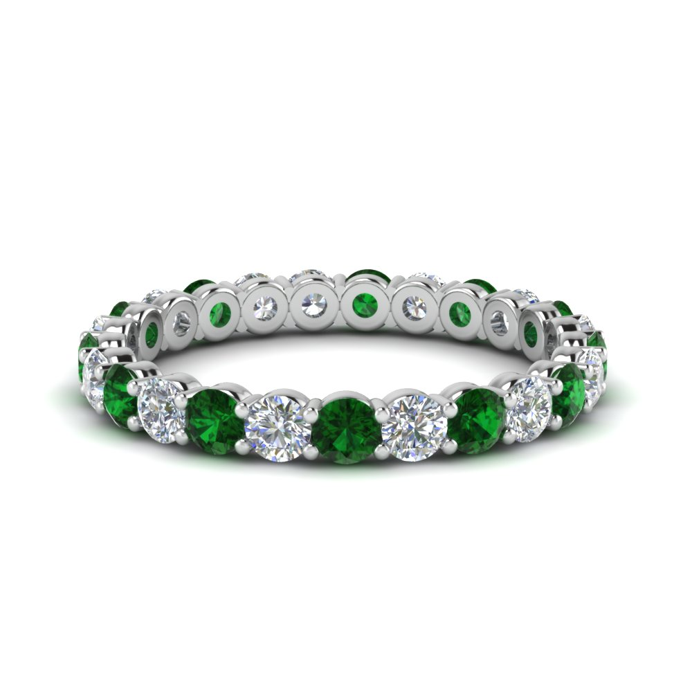 Round Emerald Eternity Ring 1.50 Ctw.