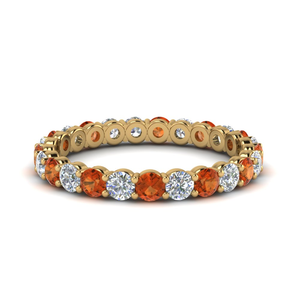 1.50 Ct. Eternity Ring Orange Sapphire