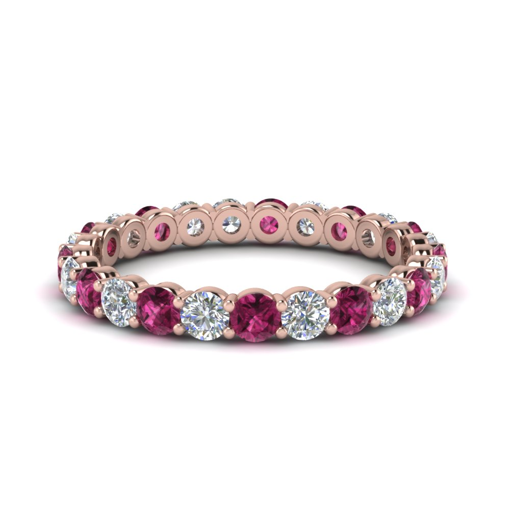 Pink Sapphire Eternity Ring 1.50 Ctw.