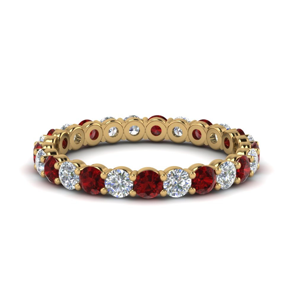 1.50 Ctw. Eternity Ring With Ruby
