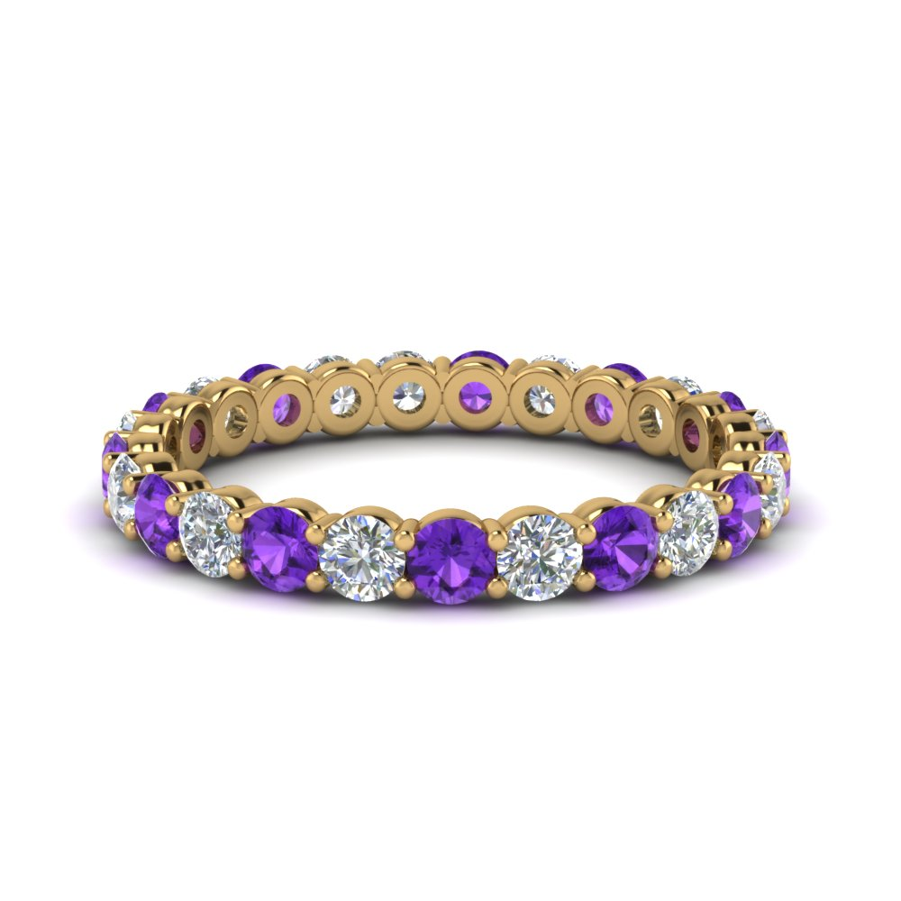 Eternity Ring With Purple Topaz 1.50 Ct.