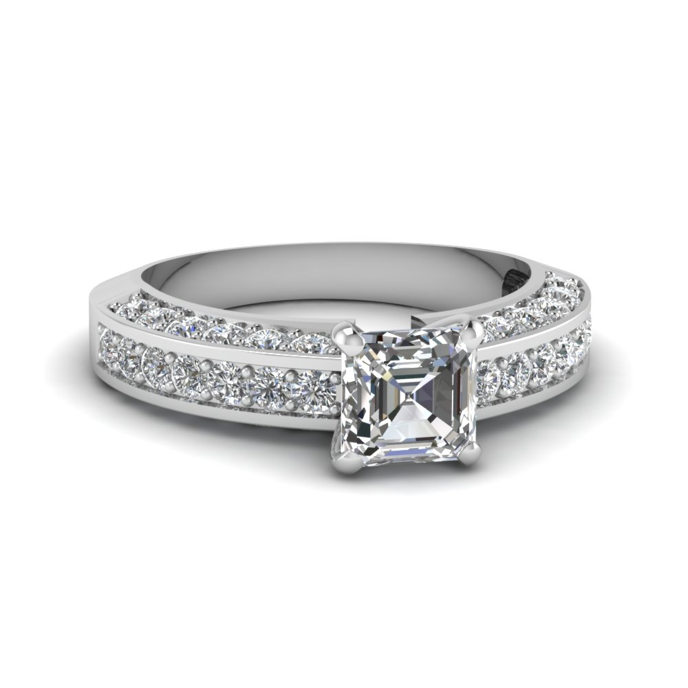1.50 ct. diamond pave accent asscher cut engagement ring in FDENR6458ASR NL WG.jpg