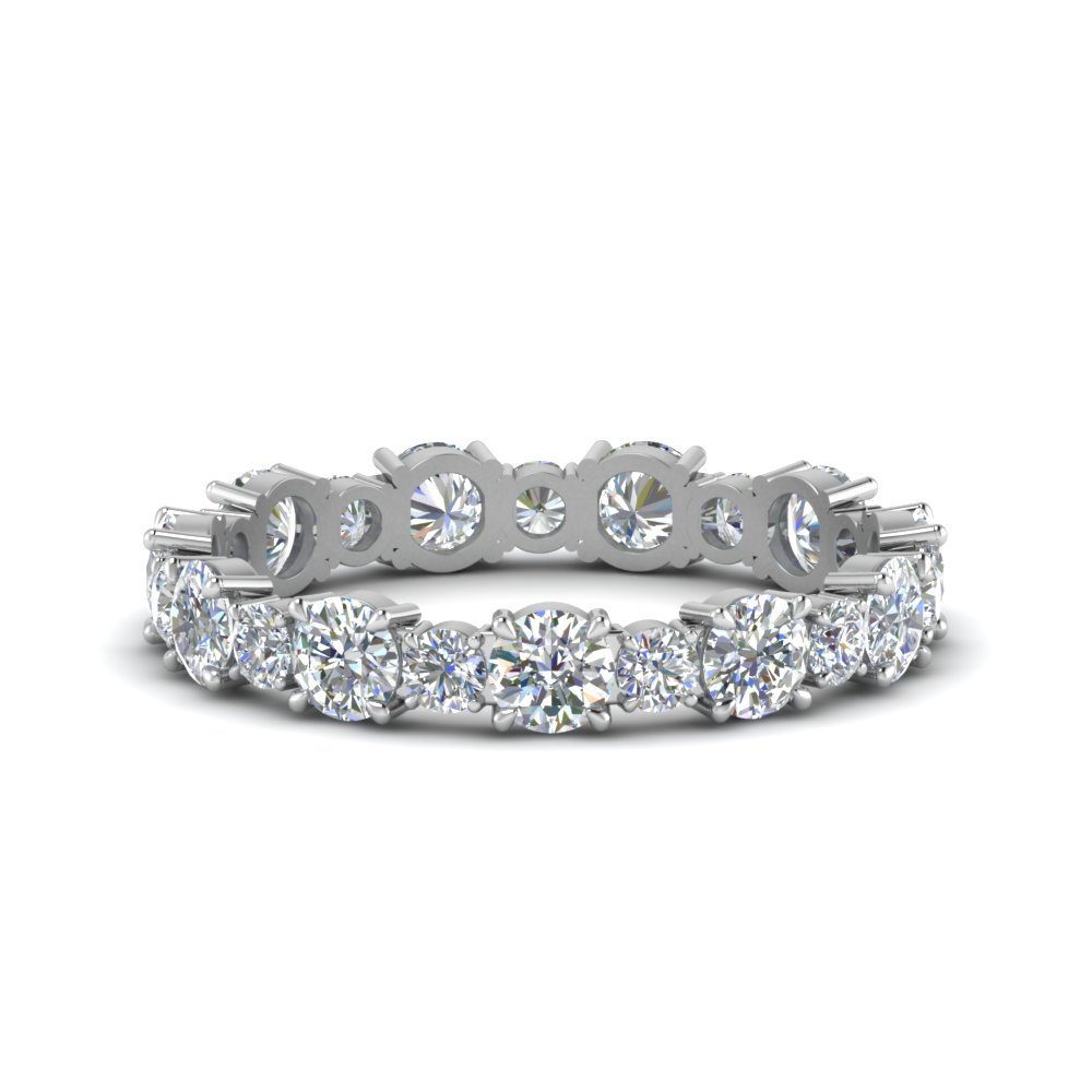 Asymmetrical Diamond Eternity Band