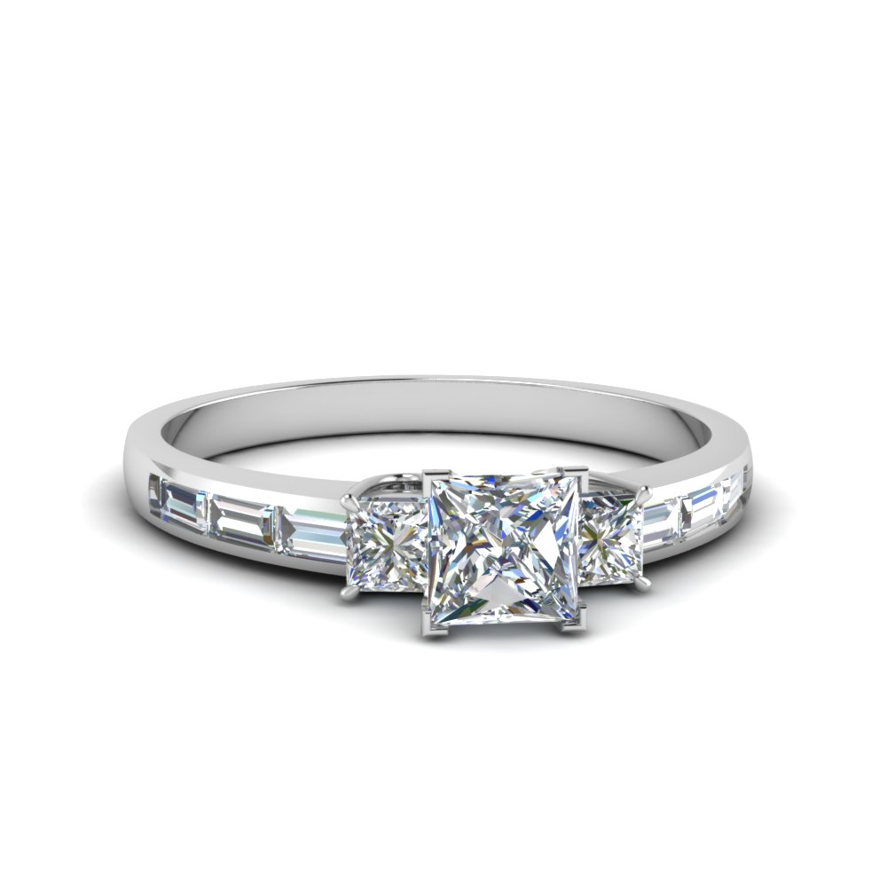 1.50 ct. diamond baguette 3 stone princess cut engagement ring in FDENS1021PRR NL WG.jpg