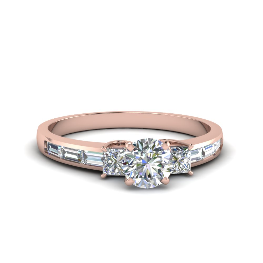 Diamond Baguette 3 Stone Ring