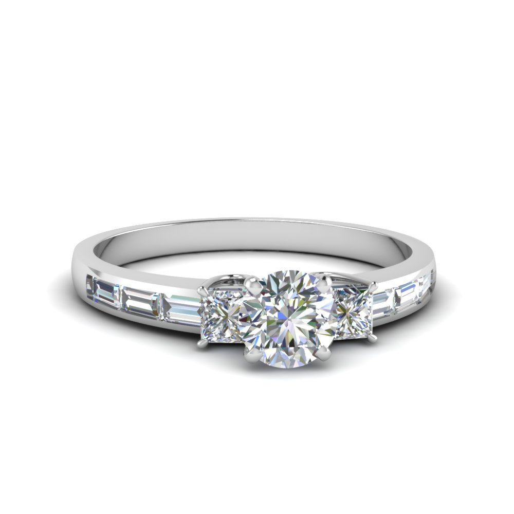 1.50 Ct. Diamond Baguette Ring