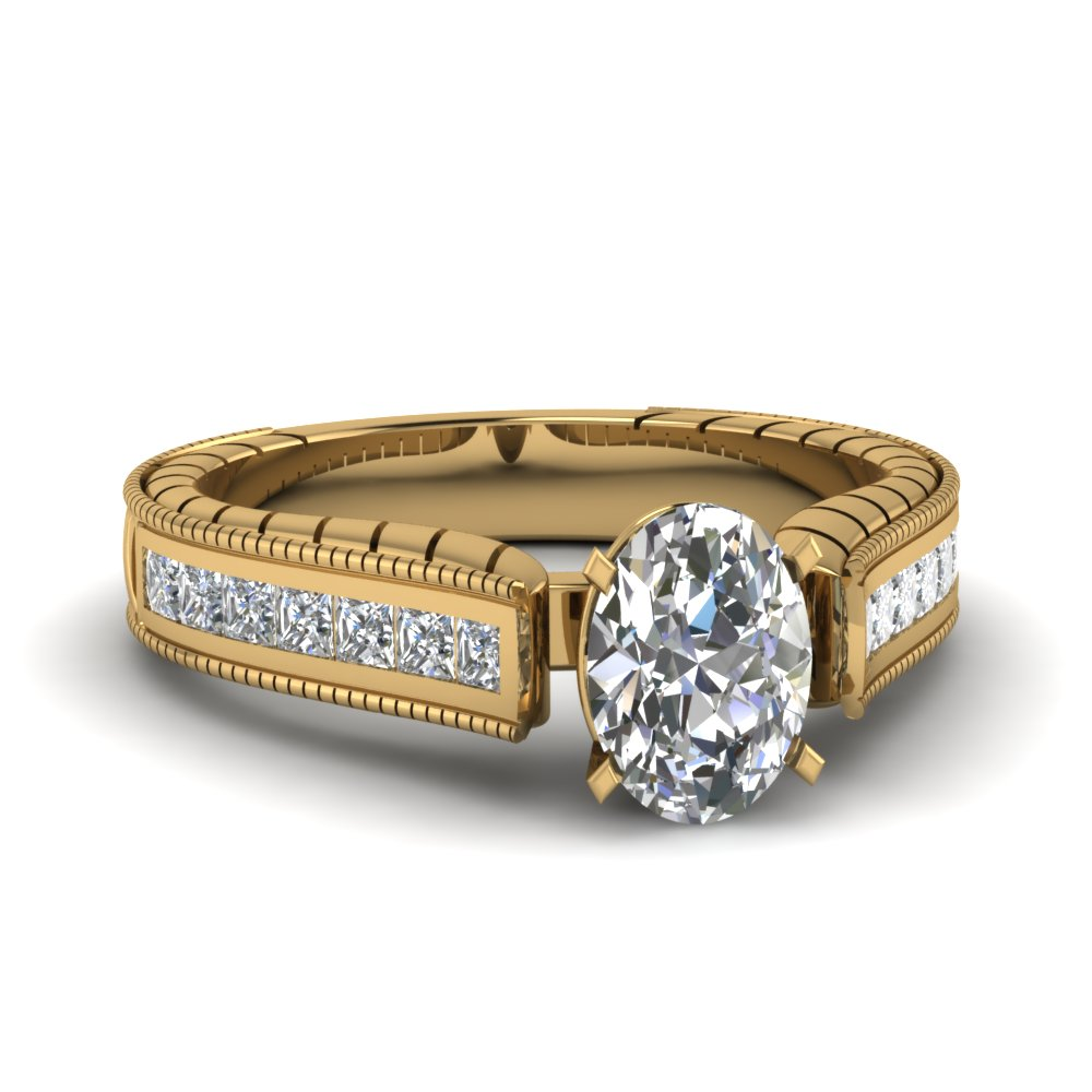 Accent Diamond Vintage Rings