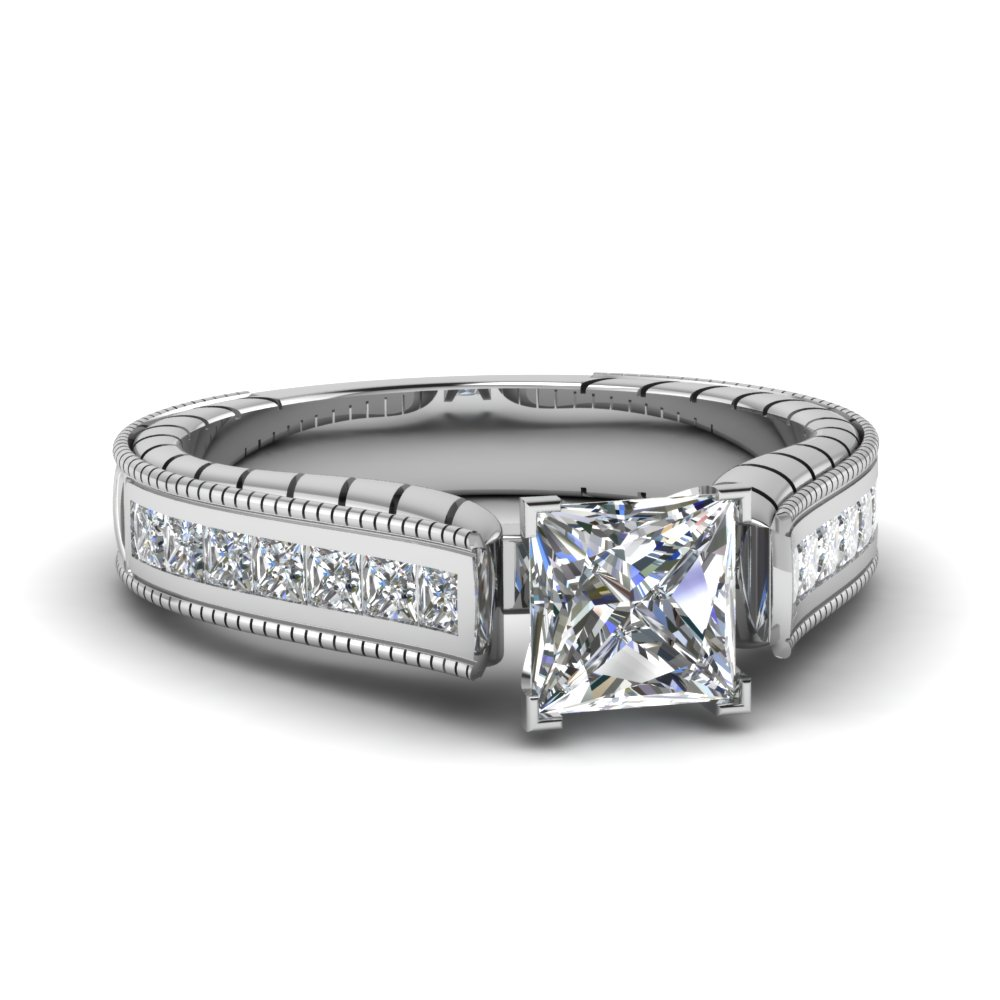 1.50 ct. diamond cathedral vintage princess cut engagement ring in FDENS3222PRR NL WG.jpg