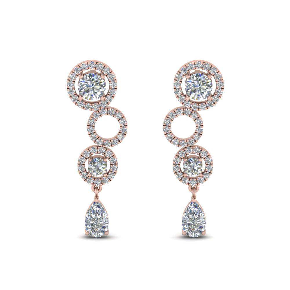 1.50 Ct. Pear Diamond Drop Earring