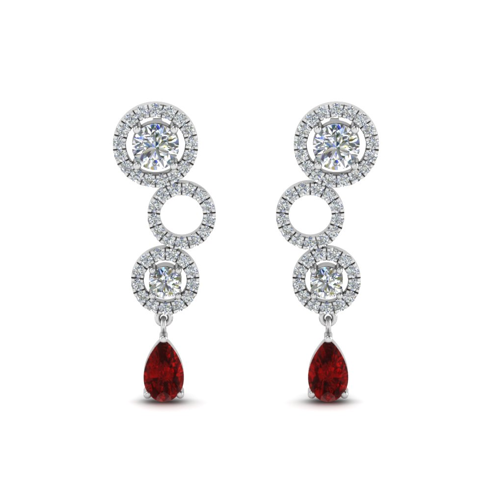 1.50 Ct. Diamond Pear Drop Earring