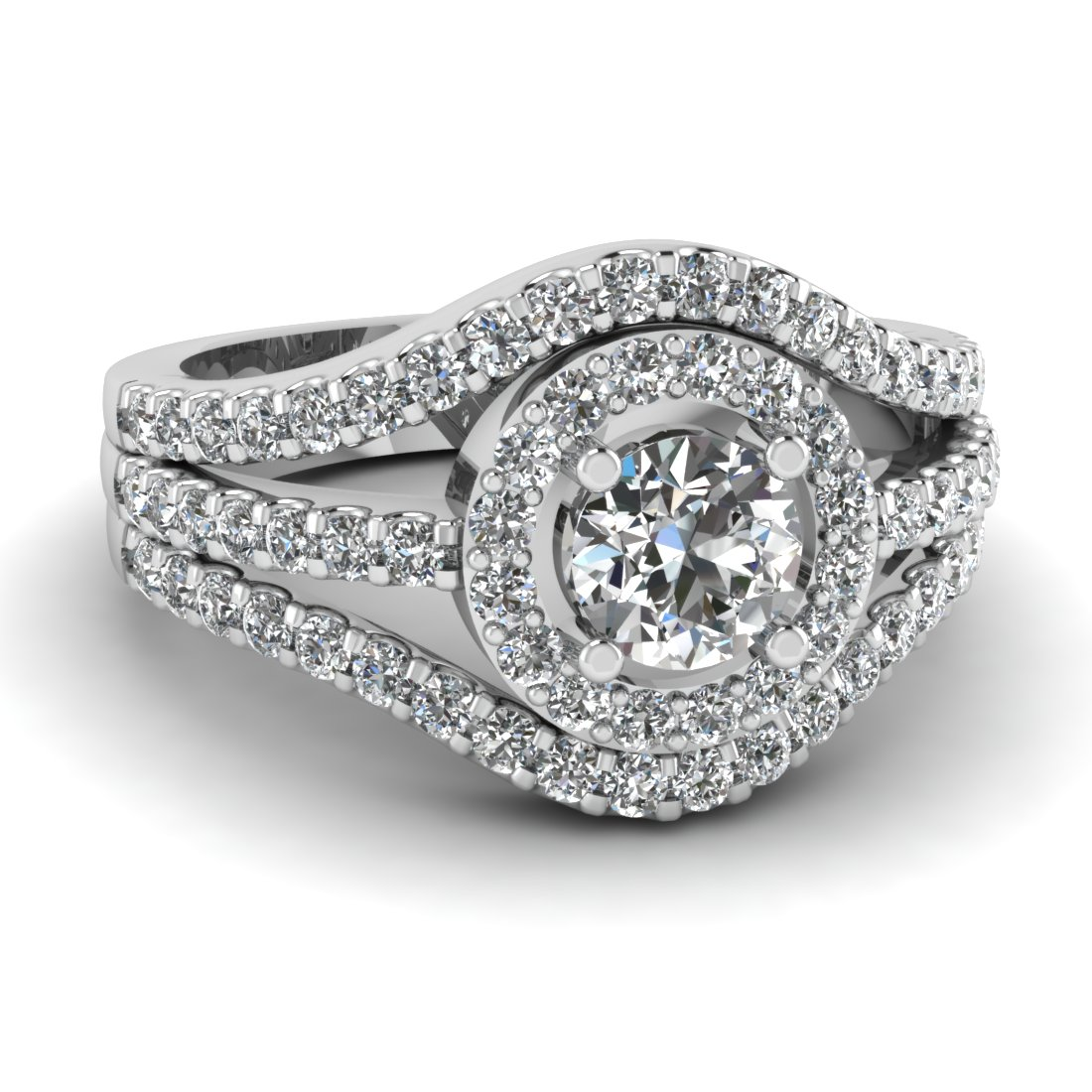 1.50 Carat Diamond Crossover Ring