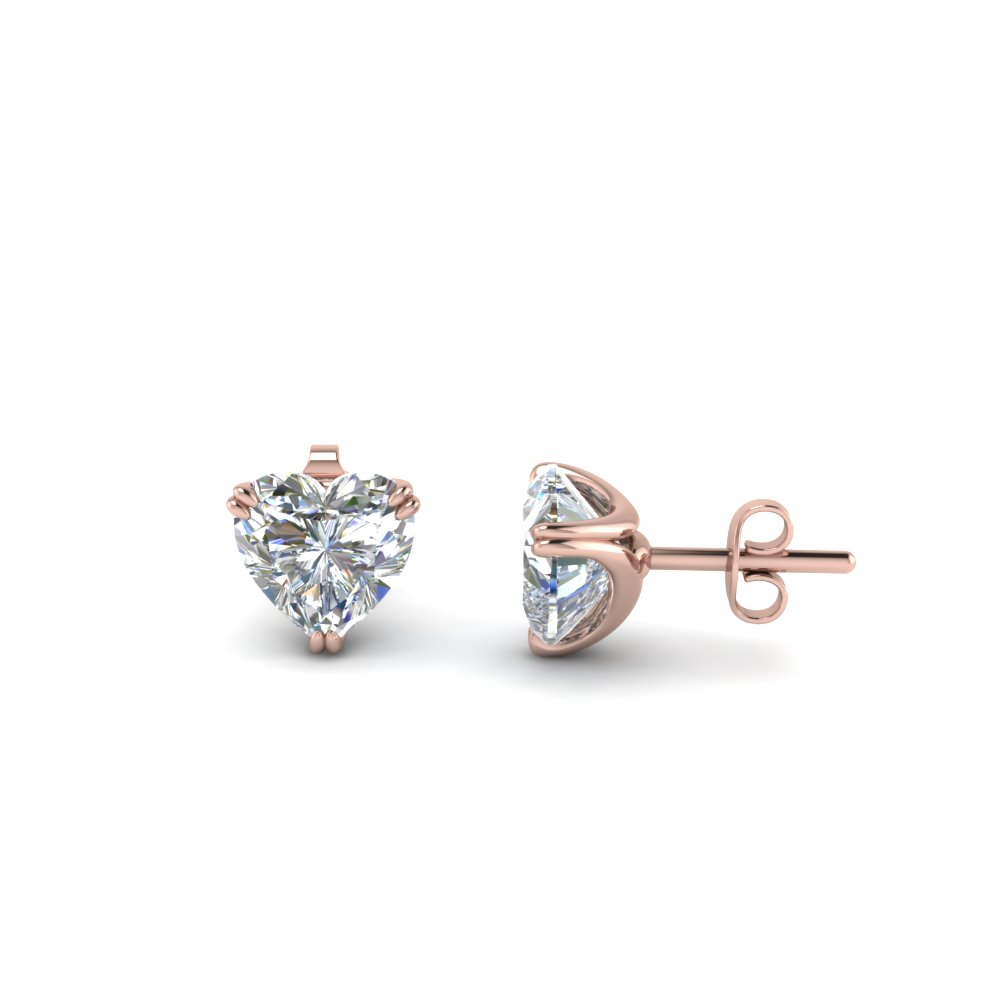 1.50 Ct. Diamond Heart Stud Earring