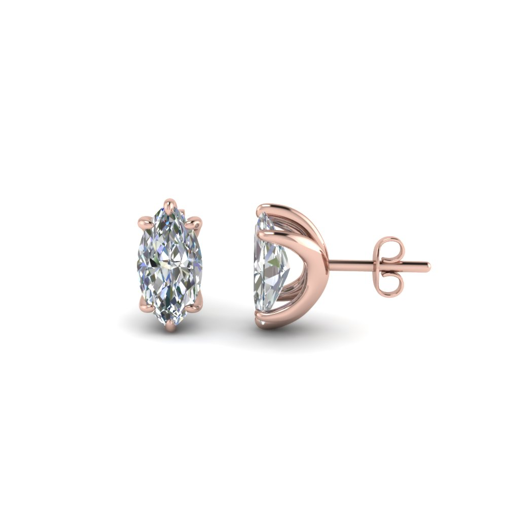 1.50 Ct. Diamond Marquise Stud Earring