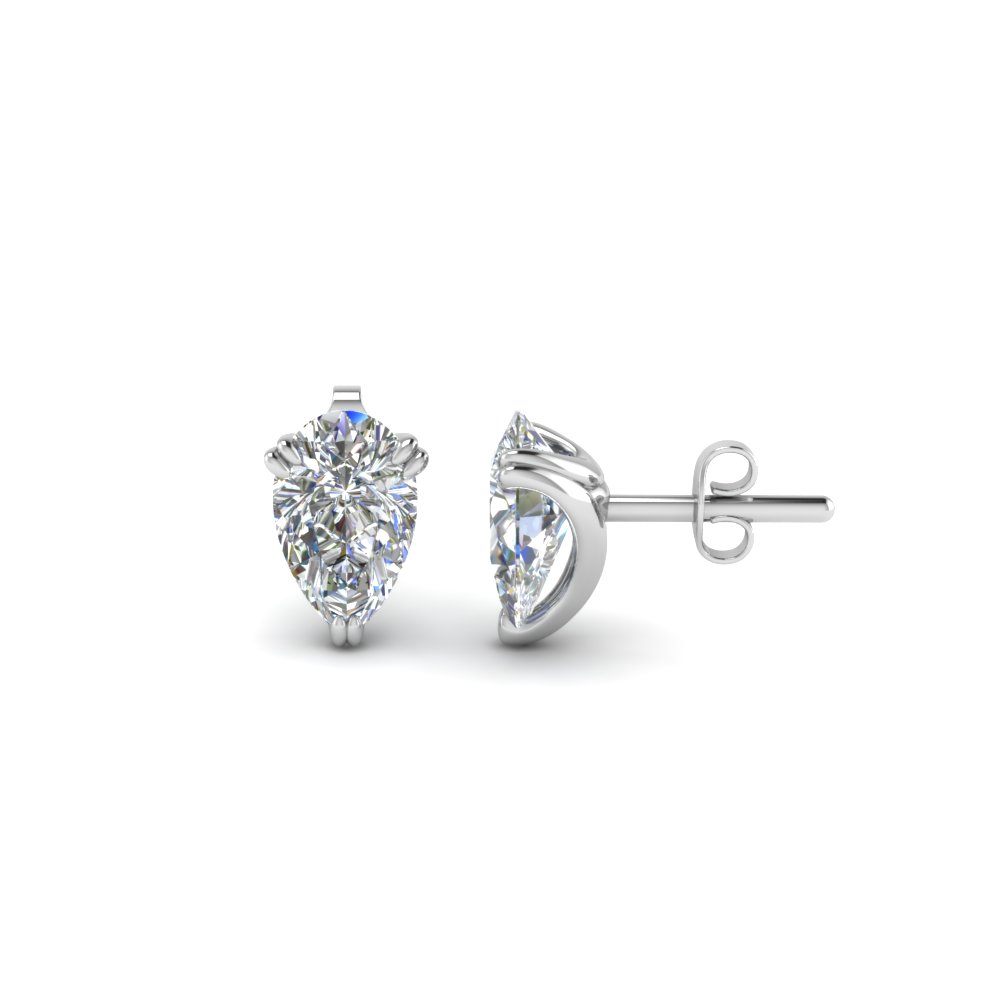 1.50 Ct. Diamond Pear Stud Earring