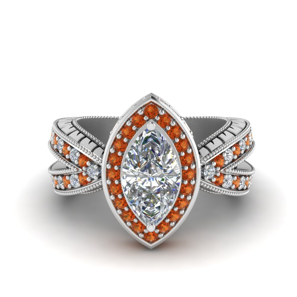 1.50-ct.-diamond-vintage-ring-with-marquise-halo-with-orange-sapphire-in-FD8753MQRGSAOR-NL-WG