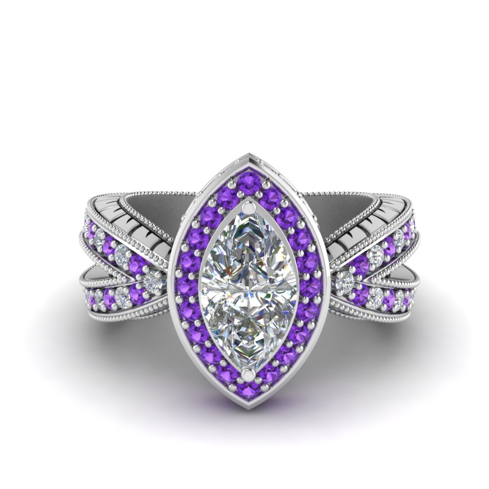 1.50-ct.-diamond-vintage-ring-with-marquise-halo-with-purple-topaz-in-FD8753MQRGVITO-NL-WG