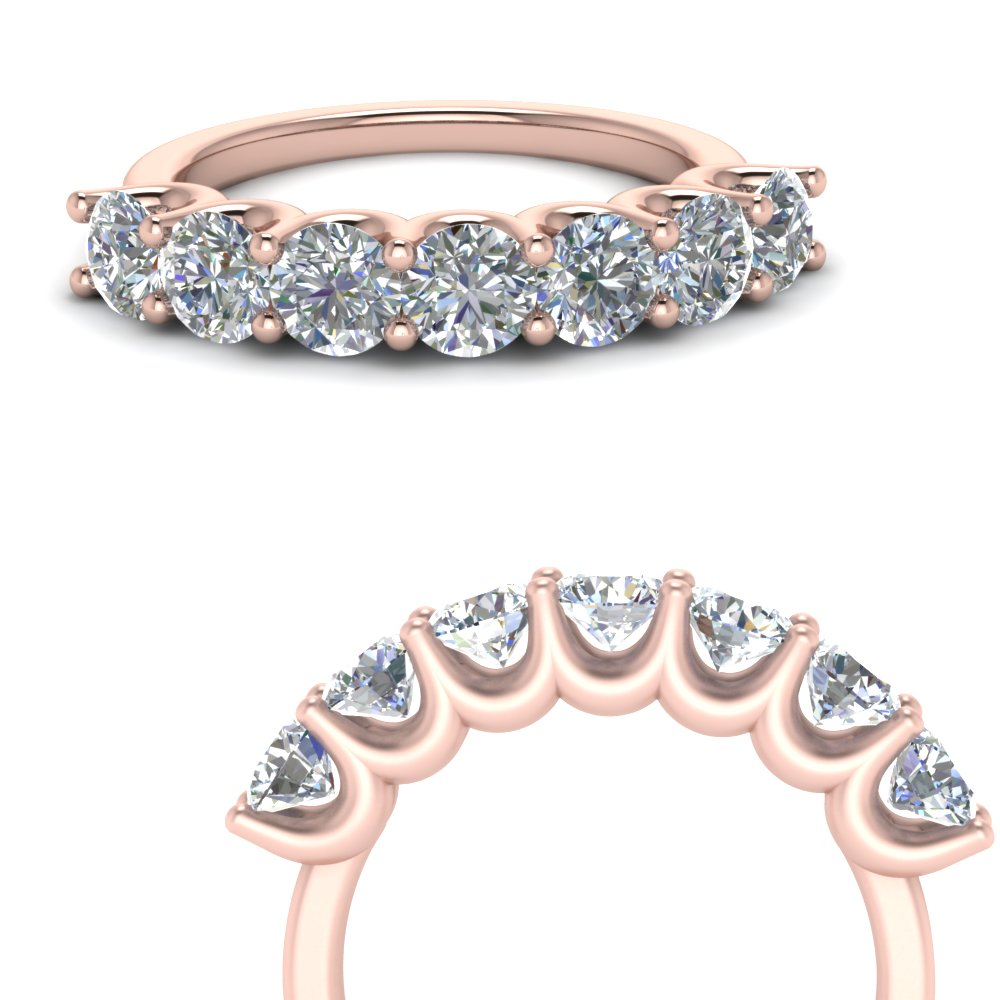 Rose Gold Round Diamond Band
