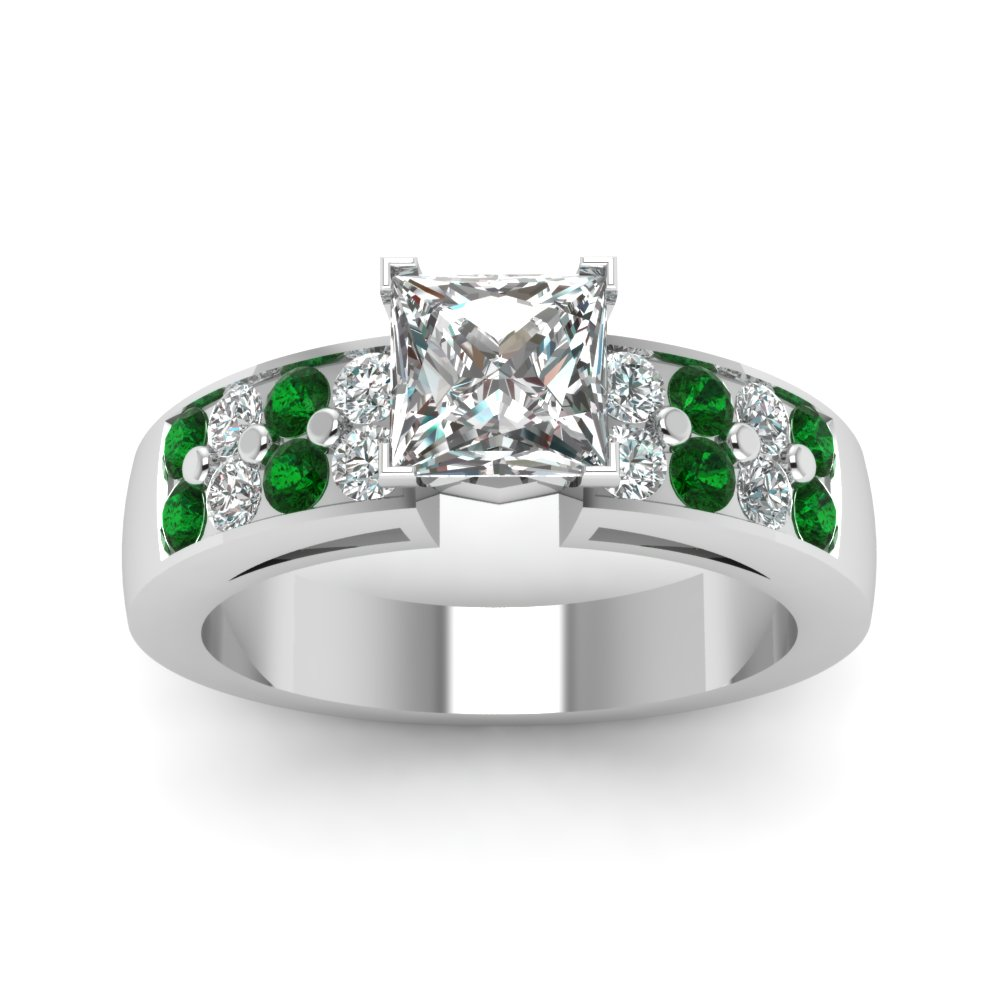 solitaire cut set bijoux prong princess in cathedral white wide bands diamond rings w band o gold v ring majesty engagement