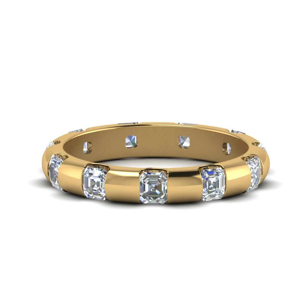Asscher Cut Bar Eternity Band
