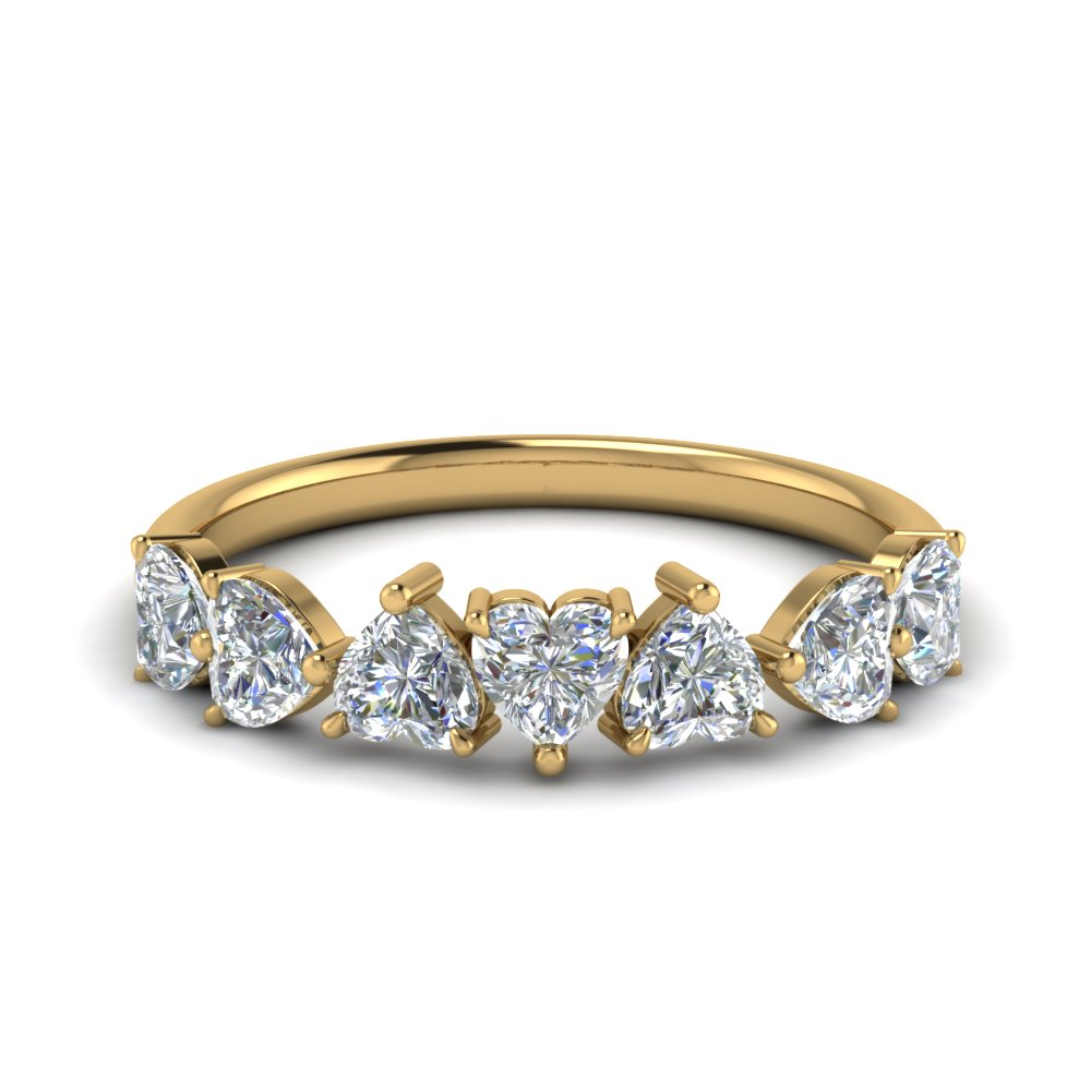 1.75 Carat Heart Diamond Band
