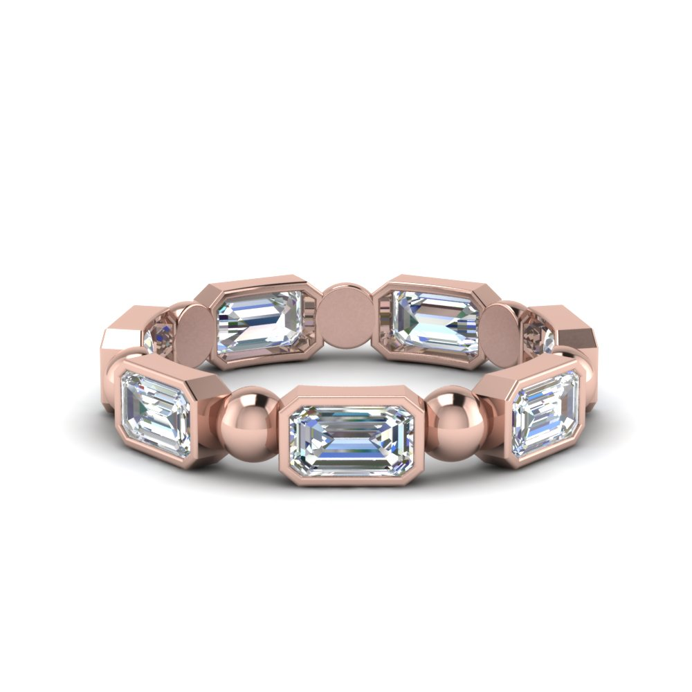 18K Rose Gold 1.75 Ct. Eternity Band With Bead