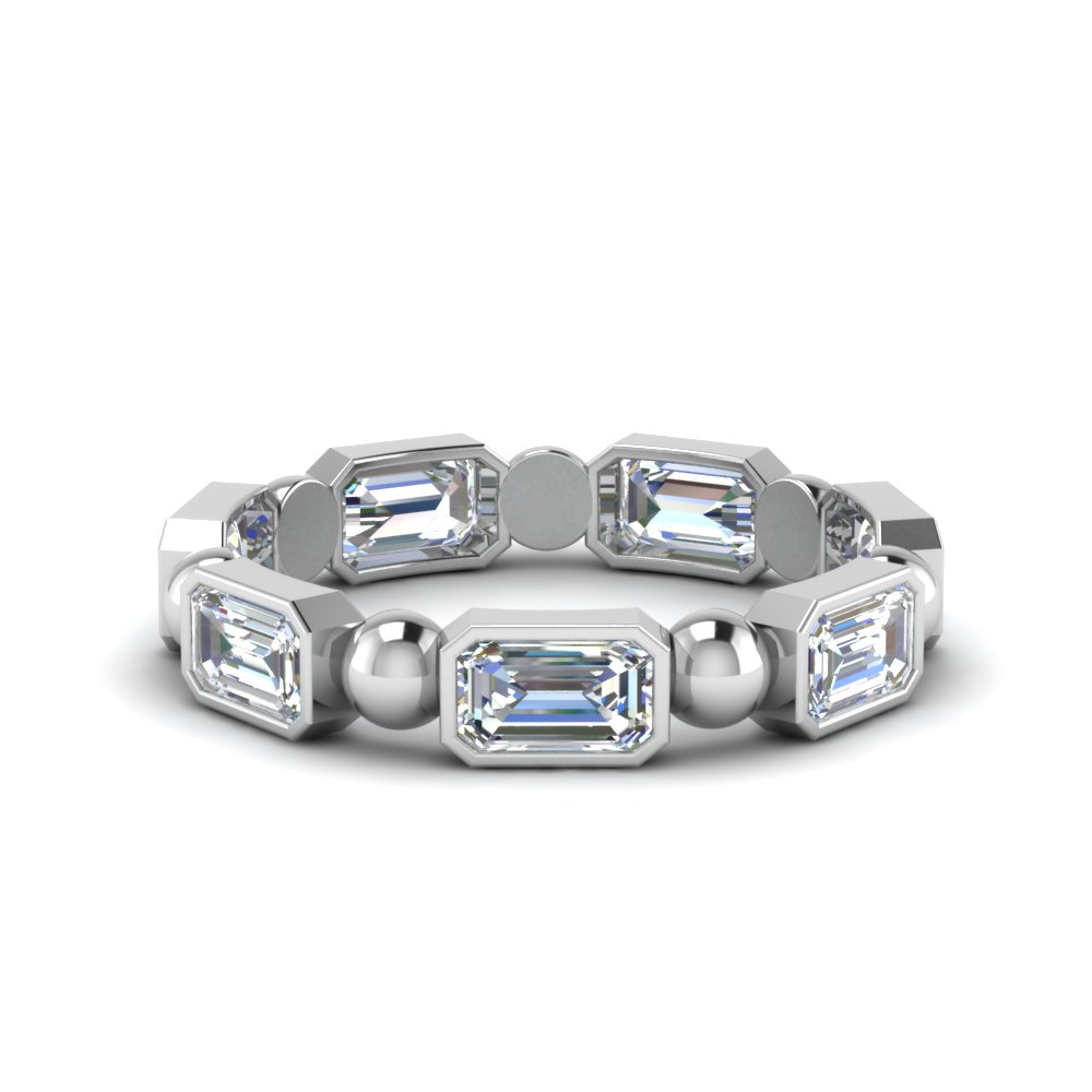 Platinum 1.75 Carat  Eternity Band With Bead