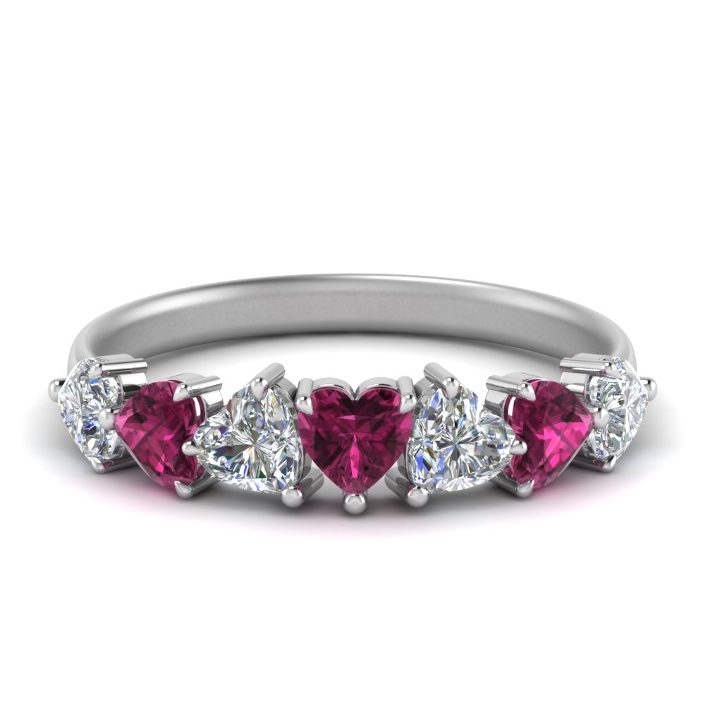 1.75-ct. seven-stone-heart-cut-diamond-wedding-ring-with-pink-sapphire-in-FD8915GSADRPI-NL-WG
