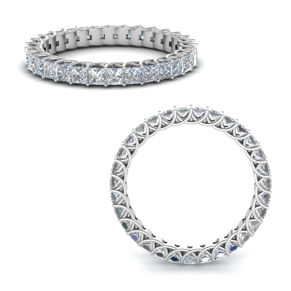 1.80 Ct. Diamond Trellis Eternity Ring