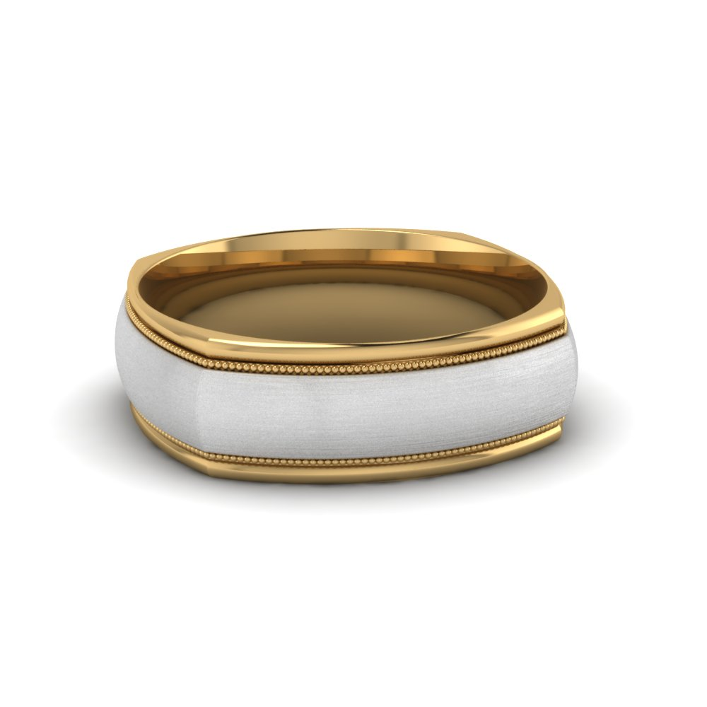 two platinum tone bands wedding band
