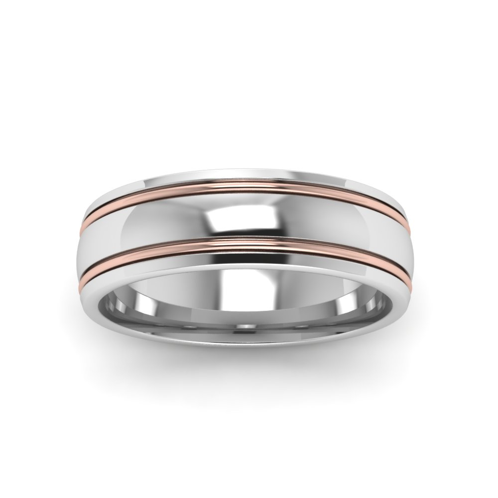 two tone mens wedding ring in 18k white gold fascinating diamonds