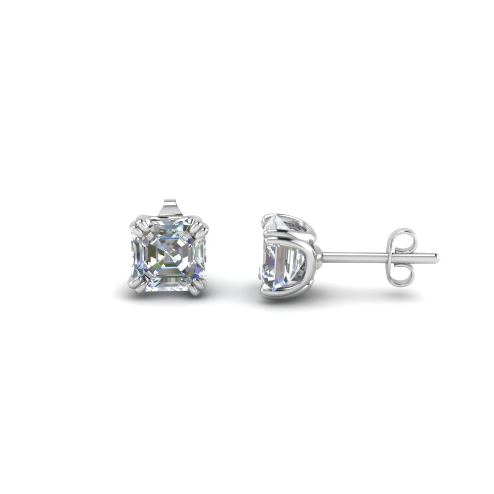 2 Carat Cher Stud Diamond Earring In Fdear8461as 1 0ct Nl Wg