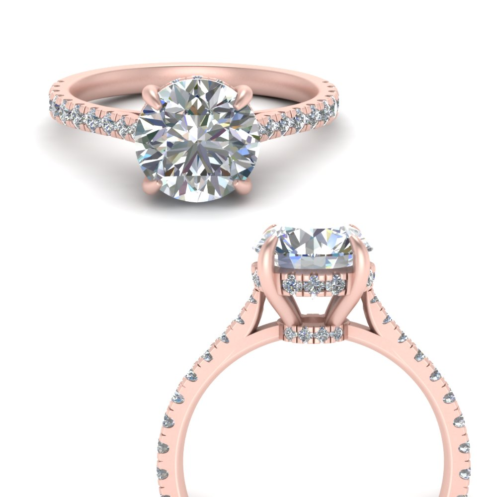2 Carat Diamond Hidden Halo Ring