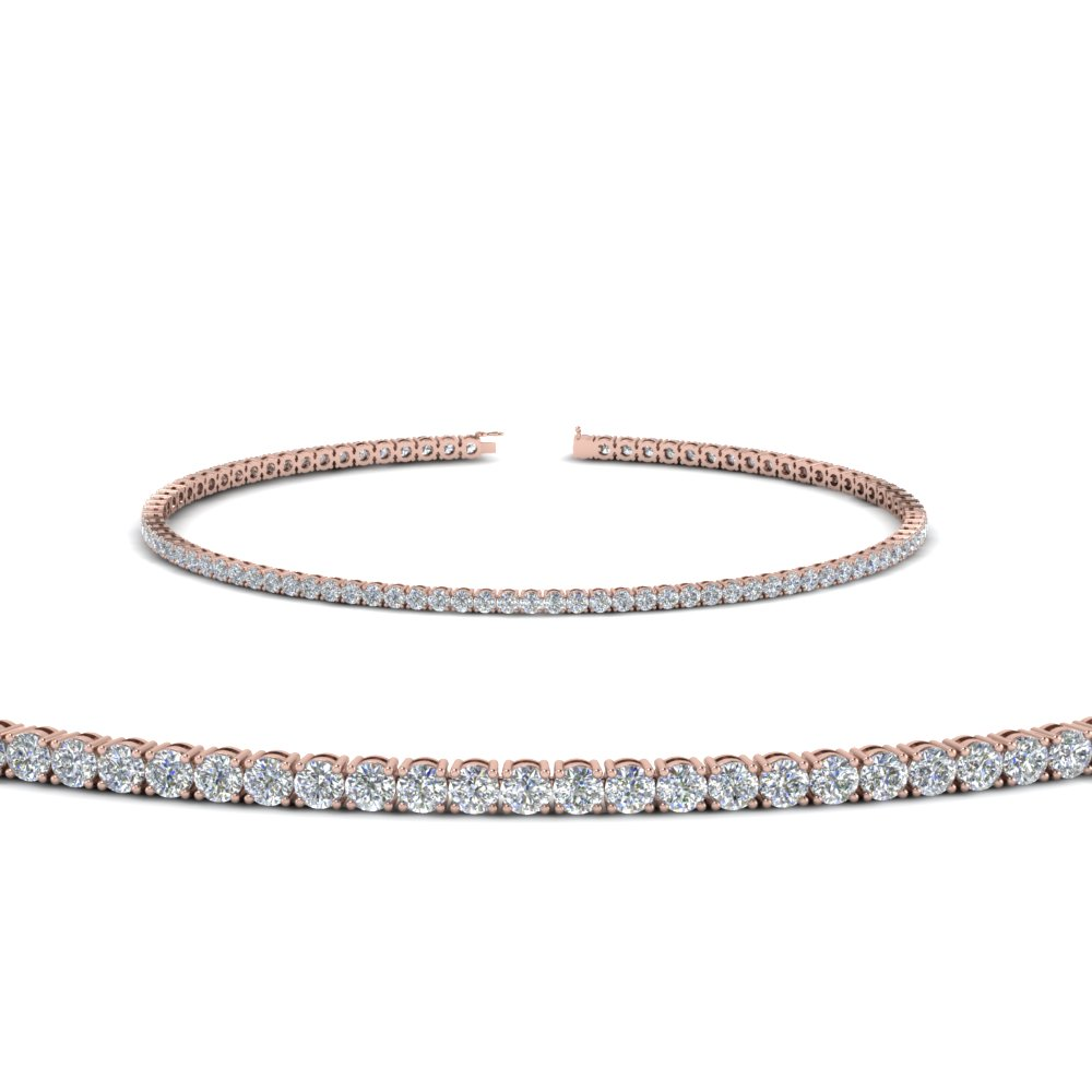 2 Ct. Round Diamond Tennis Bracelet