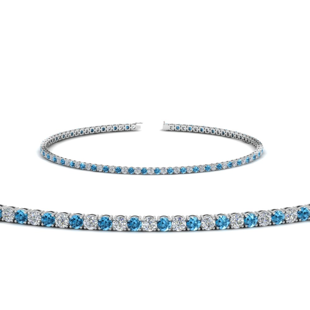 Topaz With Tennis Bracelet