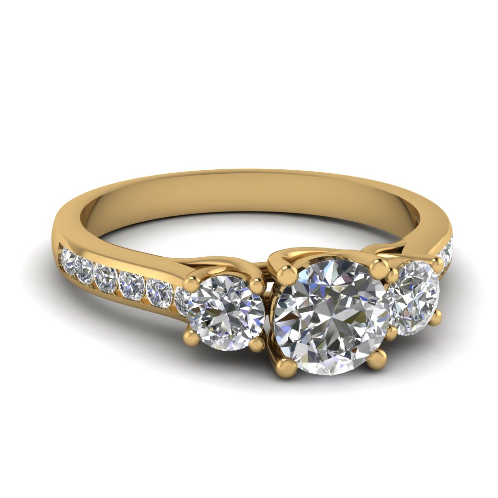 Cathedral 3 Stone Ring