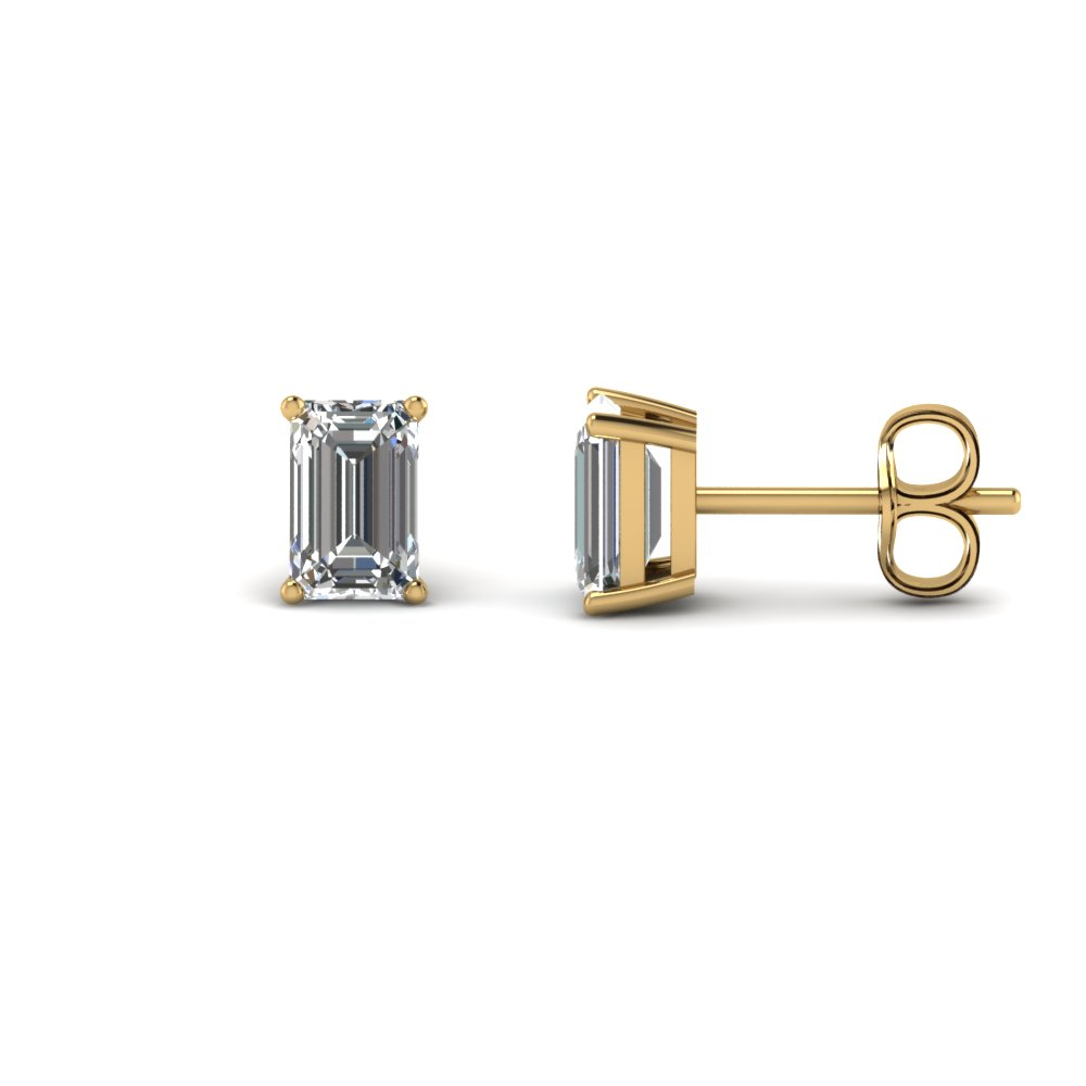 2 Karat Diamond Emerald Cut Earring