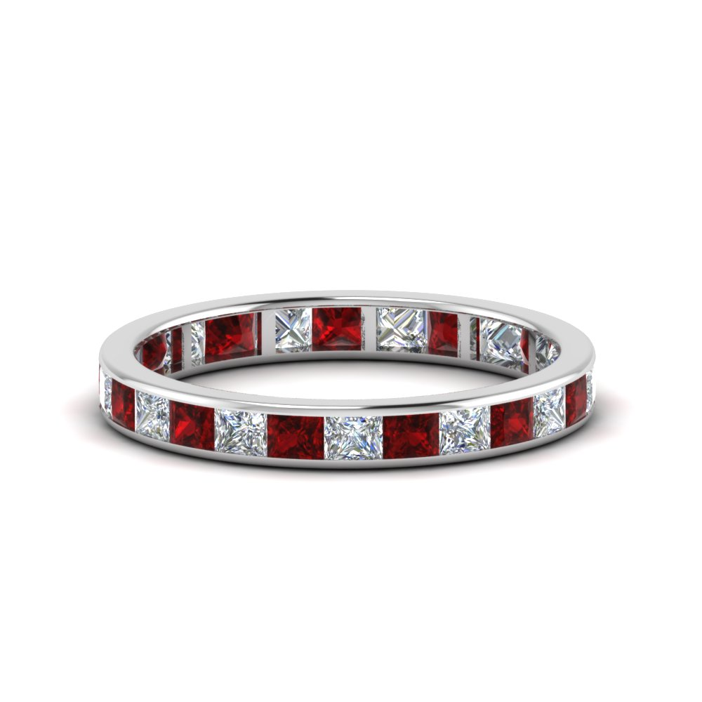 Ruby Eternity Anniversary Band