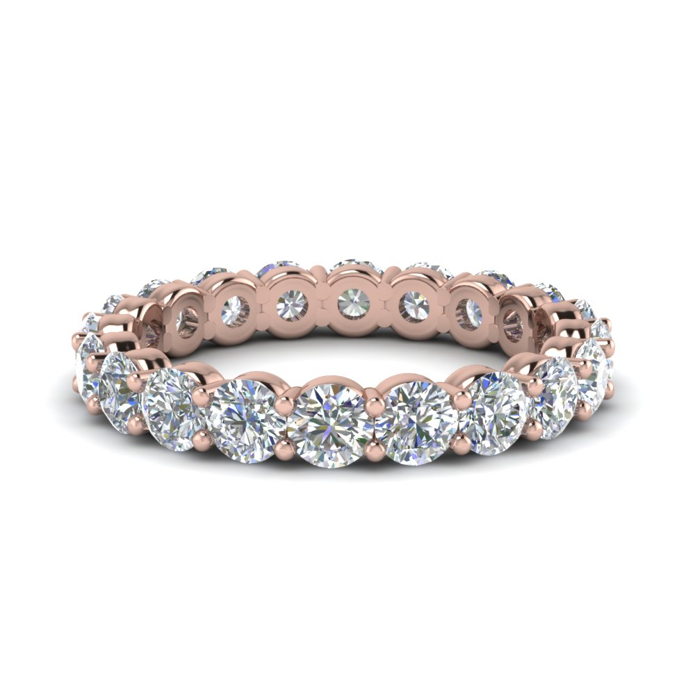 2 Carat Round Cut Eternity Band