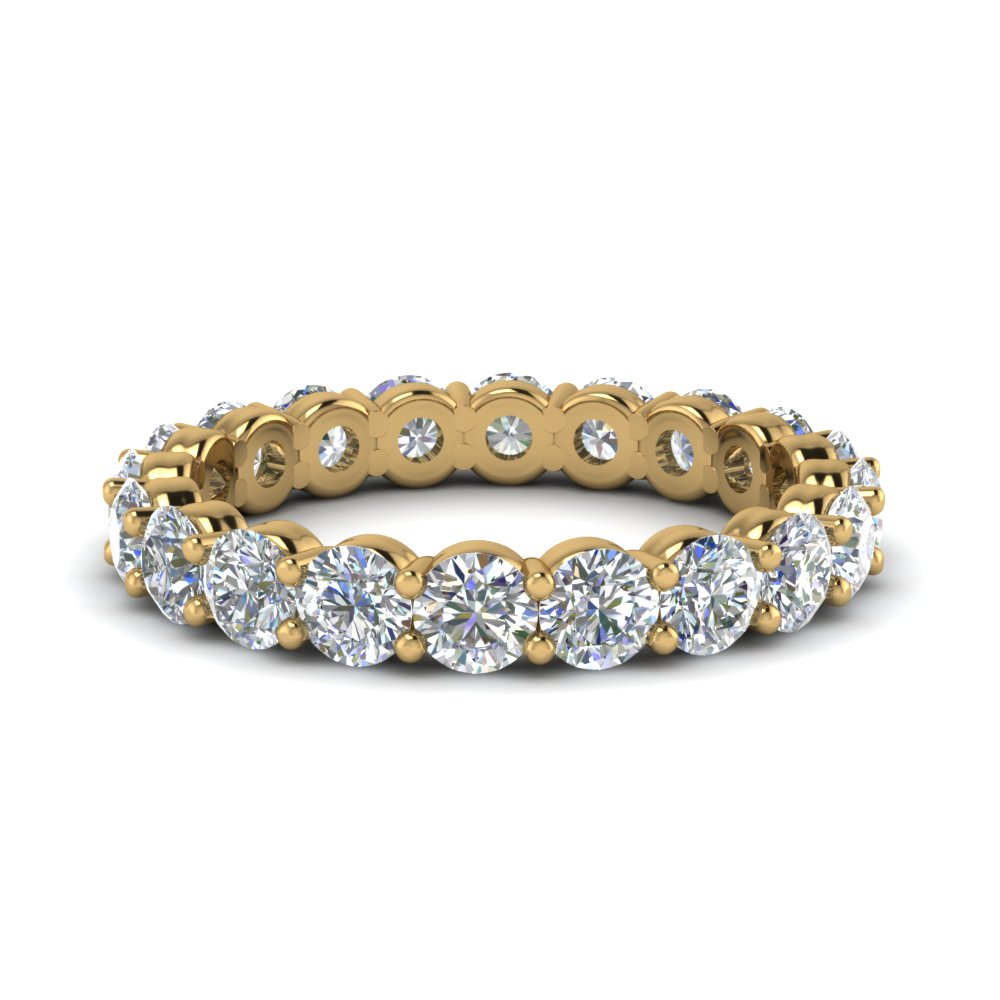 2 carat round diamond eternity wedding band in FDEWB8387 2.0CTB NL YG