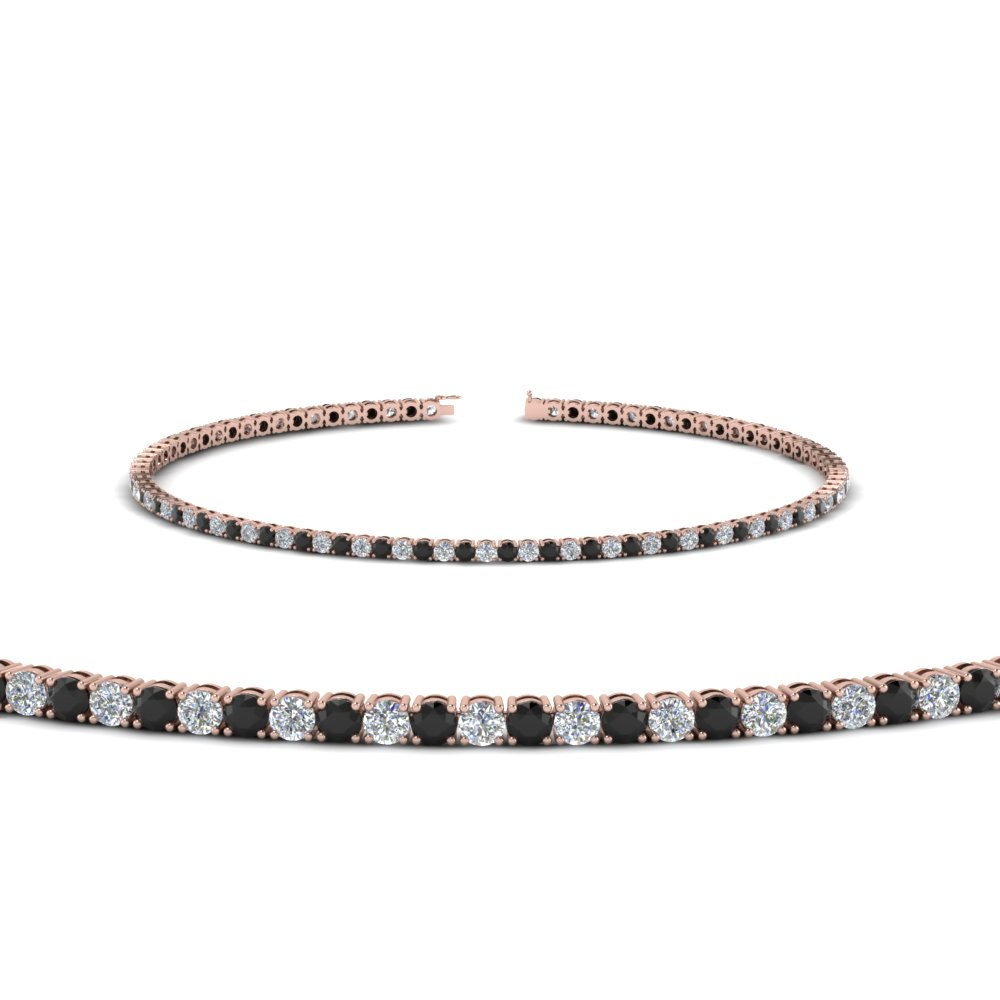 2 carat tennis bracelet with black diamond in FDBRC8635 2CTGBLACK NL RG