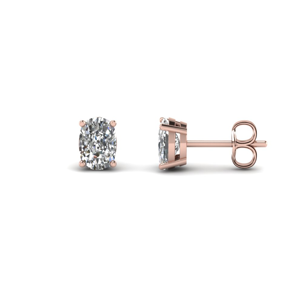 2 Ct. Cushion Stud Diamond Earring