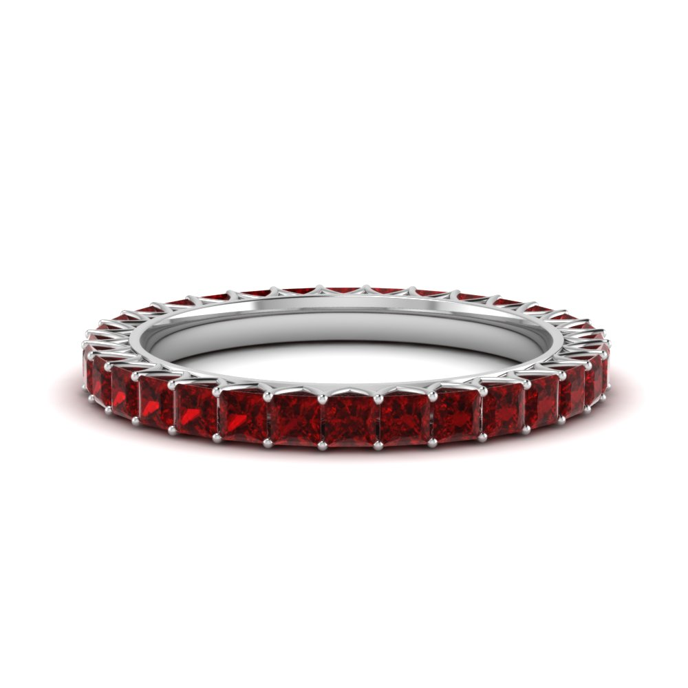 2 Ct. Ruby Eternity Band