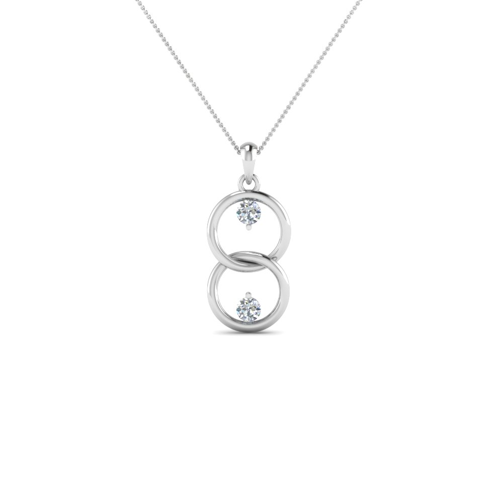 Double Ring Diamond Pendant