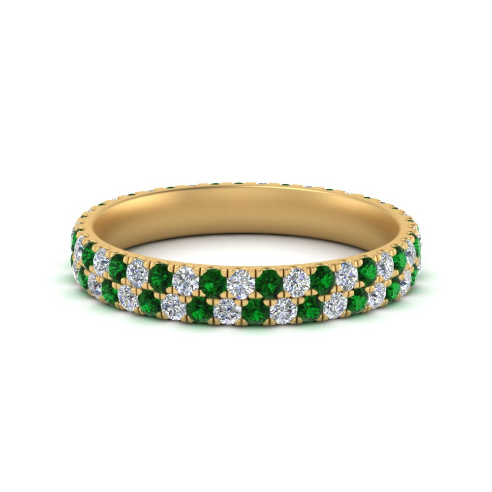 2-row-women-wedding-diamond-band-with-emerald-in-FDEWB507GEMGR-NL-YG