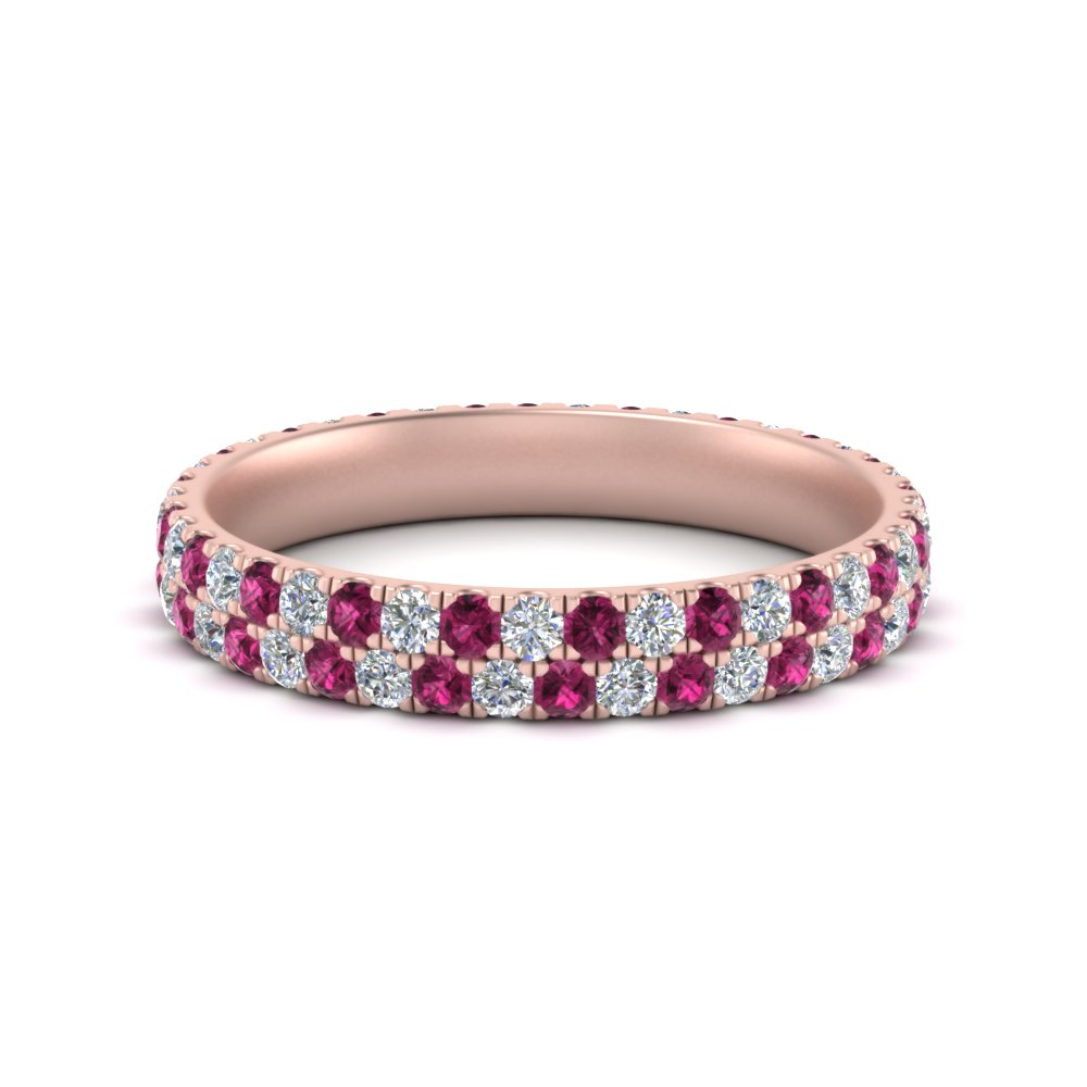 2-row-women-wedding-diamond-band-with-pink-sapphire-in-FDEWB507GSADRPI-NL-RG