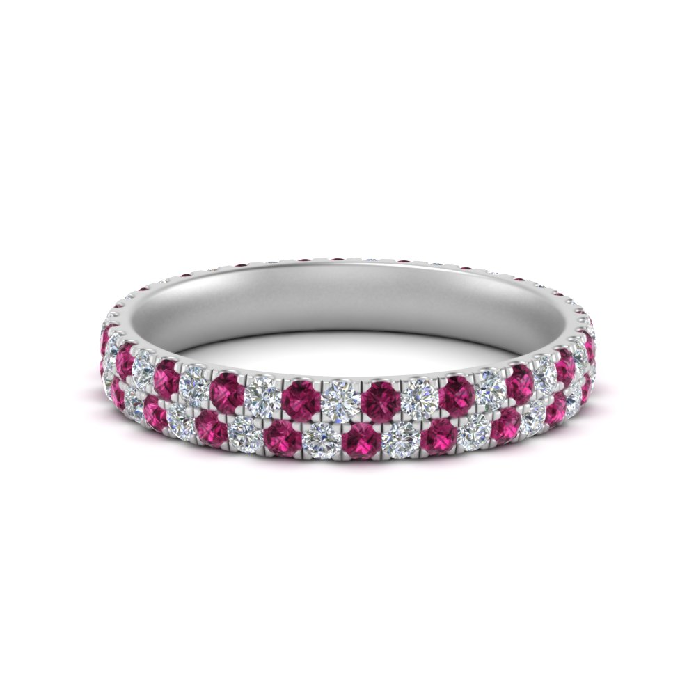 2-row-women-wedding-diamond-band-with-pink-sapphire-in-FDEWB507GSADRPI-NL-WG