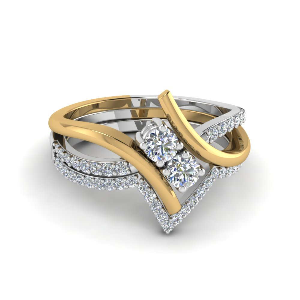 2 Stone Bridal Ring Set