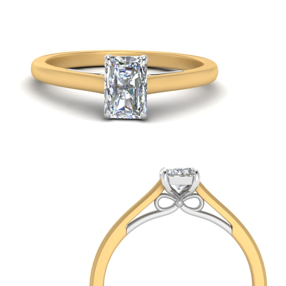 Solitaire Radiant Diamond Ring