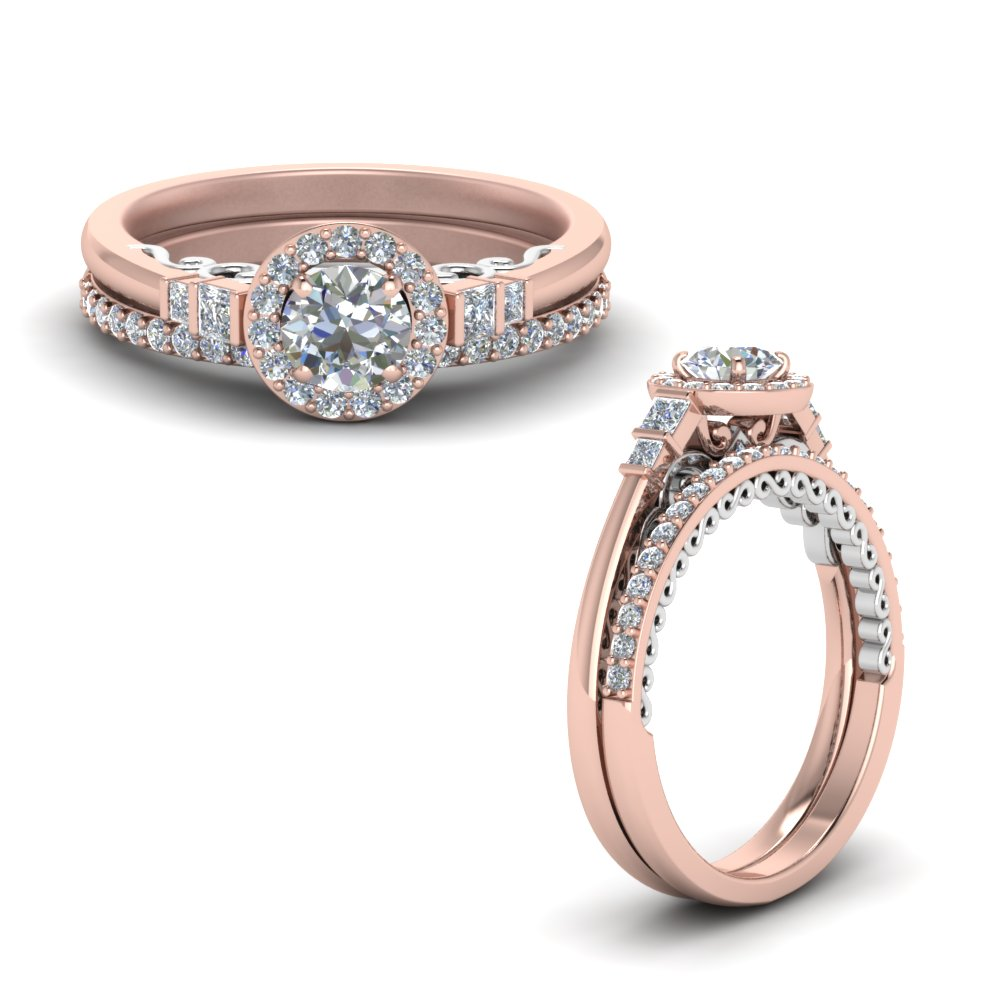 2 tone delicate halo diamond wedding ring set in FD9011ROANGLE1 NL RG.jpg