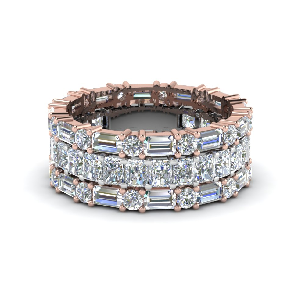 2 Tone Diamond Stackable Band